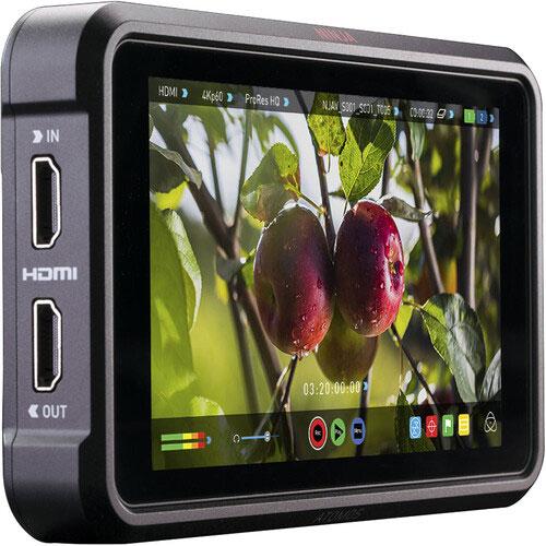 Atomos Ninja V Pro monitor recorder hire - 5inch 4K 60P HDR Monitor Recorder - RENTaCAM Sydney