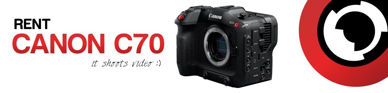 Canon C70 camera hire web banner - RENTaCAM Sydney