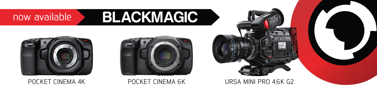 Blackmagic Design gear for hire banner - RENTaCAM Sydney